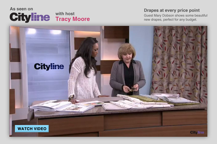 As seen on Cityline with host Tracy Moore | Drapes at every price point Guest Mary Dobson shows some beautiful new drapes, perfect for any budget.